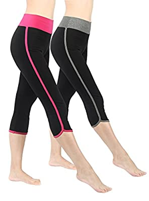 4How Sport Leggings for Women Gym Running Tights Pocket Side Stripe Leggings Size 8 10 12 14 16