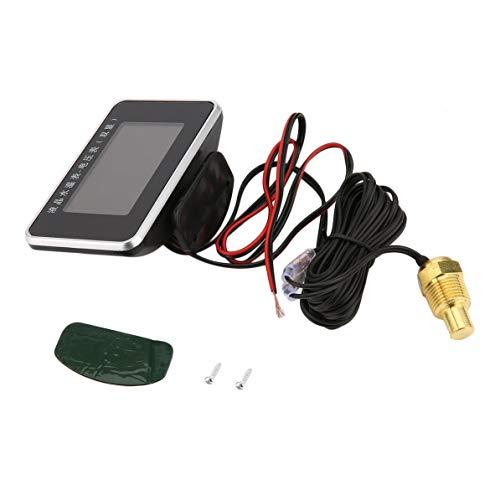 Fit Gauge (Auto Fahrzeuge LCD-Bildschirm Gauge 2 In 1 Wassertemperaturanzeige Voltmeter Monitor Werkzeug Universal Fit Für 12 V 24 V Auto)