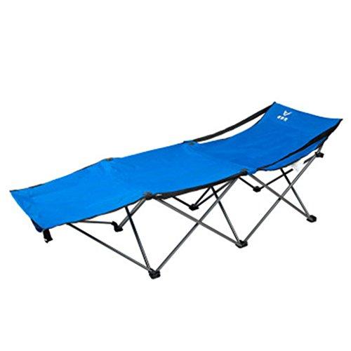 Klappstuhl im Freien Nickerchen Liegestuhl Siesta Stuhl tragbare Freizeit Stuhl Rückenlehne Angeln Stuhl Camping Strand Liegesessel ( Color : Blue ) (Camping Im Alten Stil)