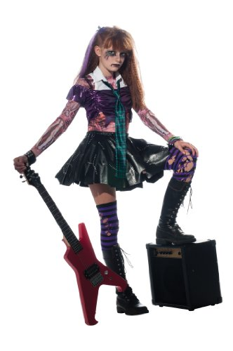 Zombie Punk Rocker - Kids Costume 3 - 4 (Punk Uk Rocker Kostüm)