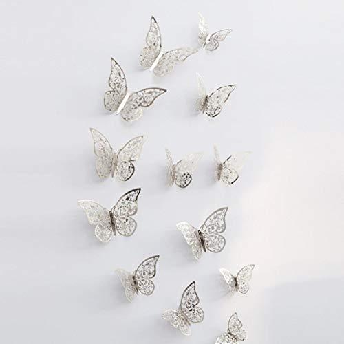 12 Stück 3D Schmetterlinge Wandsticker Haus Dekoration Wandtattoo Wandaufkleber Schmetterling Wanddeko Butterfly Wandsticker 3D Wandsticker Aufkleber Wandbilder Balkon Deko Wohnzimmer Rovinci -