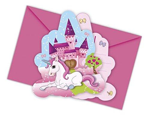 gs-Set Unicorn für Kindergeburtstag oder Mottoparty (Geburtstags Kostüm Party Einladungen)
