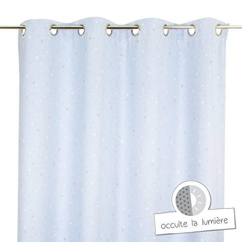 Blackout curtain blue night light for child's bedroom by atmosphera