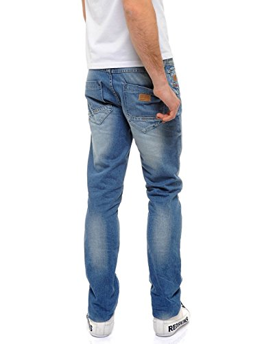 Redskins - Pantalon jeans Redskins Hammon Kawa ref_trk36826-medium blue used Blue Denim