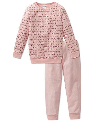Schiesser Mädchen Md Anzug lang Zweiteiliger Schlafanzug, Gelb (Apricot 603), 140