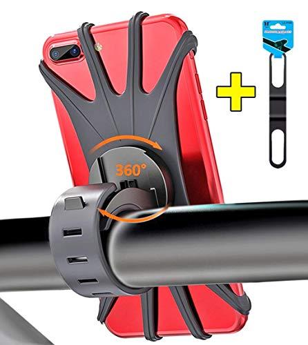 Bothink Handyhalterung Fahrrad, Universal Silikon Verstellbarer Handyhalter für Fahrrad Motorrad, Handy Fahrradhalterung Fahrradhalter mit 360° Drehbare für 4-6 Zoll Smartphone