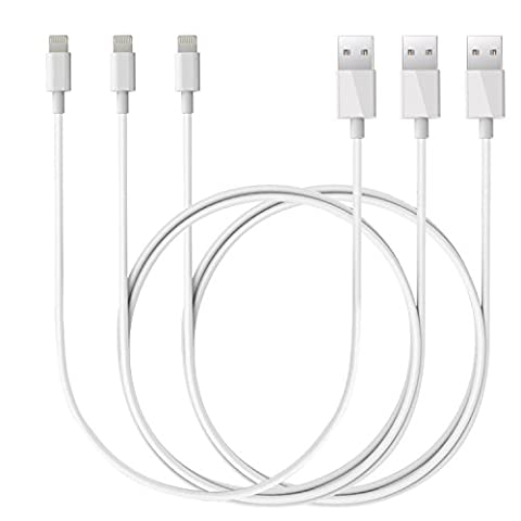 Lightning Kabel - iphone Ladekabel 3er Set USB Lightning Ladekabels für iPhone 6 Plus 6S SE Plus 5S 5C 5, iPad Air 2, Mini 3, iPod 5 und iPod Nano 7 -