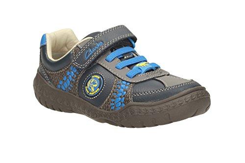 Clarks  Stomp Roll Inf, Sneakers basses garçon Blue Combi