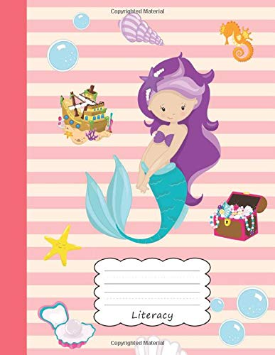 hanna Draw & Write Notebook Half Sketch Book & Dotted Handwriting Dashed Lined Journal Paper | Pretty Beach Sea Horse Shell ... & Storytelling | Writing Pad Sketchbook ()
