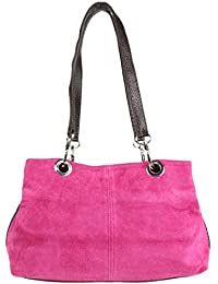 Girly HandBags - Bolso bandolera de piel de ante italiano