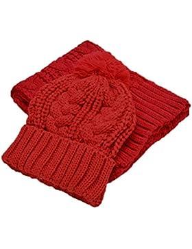 Jelinda Otoño de invierno de las mujeres caliente chaquetas de punto y conjunto de bufanda