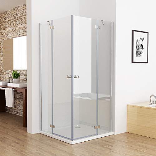 100 x 80 cm Duschkabine Eckeinstieg Duschwand Dusche Duschabtrennung ESG Glas