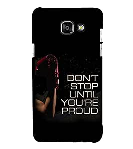 Gym Quotes 3D Hard Polycarbonate Designer Back Case Cover for Samsung Galaxy A7 (2016) :: Samsung Galaxy A7 2016 Duos :: Samsung Galaxy A7 2016 A710F A710M A710FD A7100 A710Y :: Samsung Galaxy A7 A710 2016 Edition