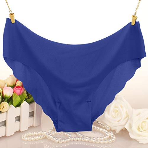 Fenverk Unterhosen Damen Panties Slips Mittlere Taille Atmungsaktive Taillenslip Soft Hipster Mit Spitze Bikinislips EinheitsgrÖsse(Blau,L) - 7