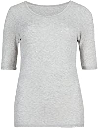 d476d04bc8fd Marks and Spencer Pointelle Thermal Ladies Short Sleeve Warm Vest UK 6-22