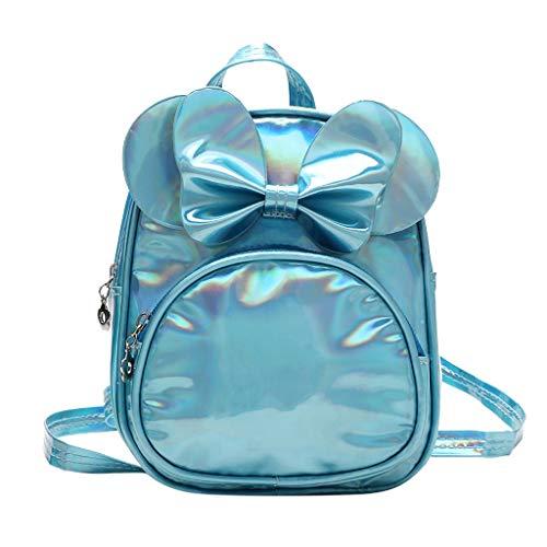 Dorical Kindergartenrucksack für Kinder Kleinkinder Süß Bogen Rucksack Backpack,Kinderrucksack Schule Tasche für Baby Jungen Mädchen 2-5 Jahr(Blau)
