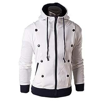 herren kapuzenpullover hoodie sweatshirt slim pulli uebergangsjacke 44 white. Black Bedroom Furniture Sets. Home Design Ideas