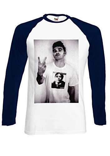 The Smiths Morrissey Steven Patrick Swearing Navy/White Men Women Unisex Long Sleeve Baseball T Shirt-S