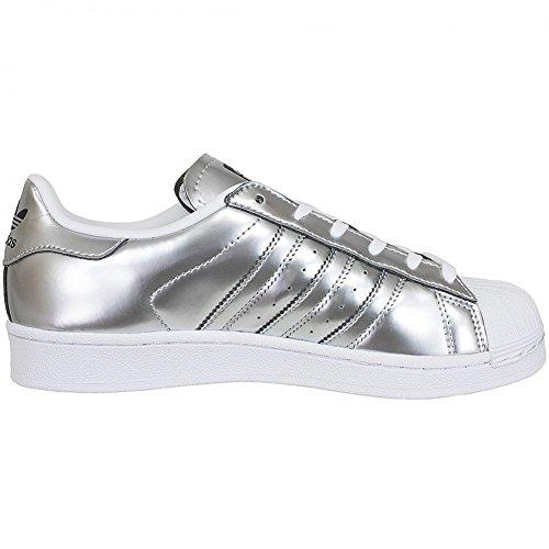 Unbekannt, Sneaker donna bianco bianco Silver/silver