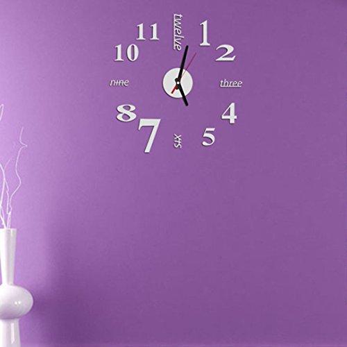 Orologio da Parete Clode Orologio da Parete Mini Moderna Fai da te Sticker 3D Home Design Ufficio Room Decor