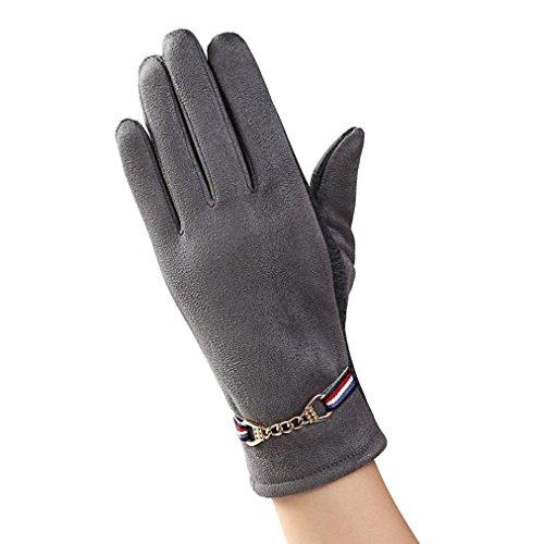 7cb474397ee37f Damen Faux Wildleder Handschuhe,FORH hochwertige weich Winddicht mit  Touchscreen-fähig Handschuhe (Freie