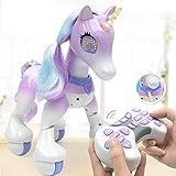 starter Unicornio de control remoto - Caballo eléctrico inteligente, mascota electrónica de inducción táctil, que incluye canciones para niños, baile, historias, sueño, programación, etc.