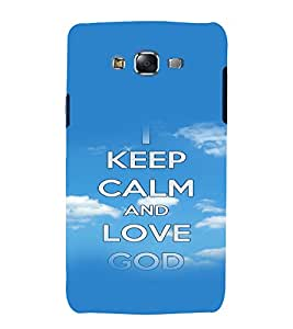 printtech Keep Calm Quotes Back Case Cover for Samsung Galaxy Grand 3 G720 / Samsung Galaxy Grand Max G720