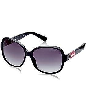 Guess Guf237-05B58, Gafas de Sol para Mujer, Negro, 58