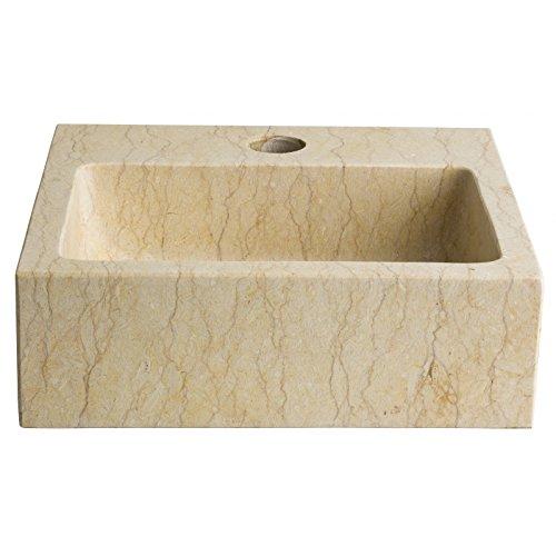 Lave mains en pierre naturelle beige égyptien