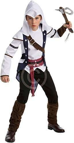Teen &ältere Jungen Assassins Creed III 3 Connor Spiel Gaming Convention Cosplay Halloween Karneval Kostüm Verkleidung Outfit 14 - 16 (Connor Kostüm Cosplay)