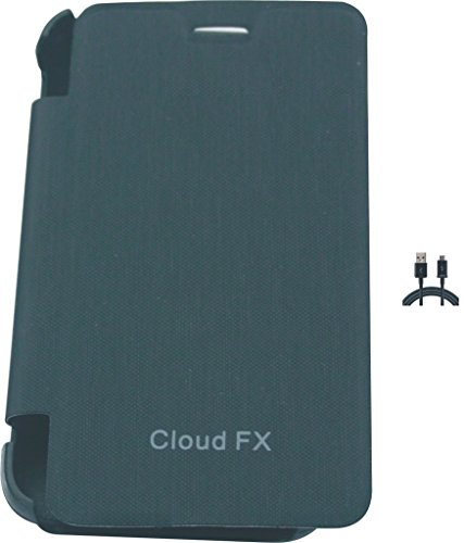 Flip Cover For Intex Cloud Fx And One Charging Cable  available at amazon for Rs.148