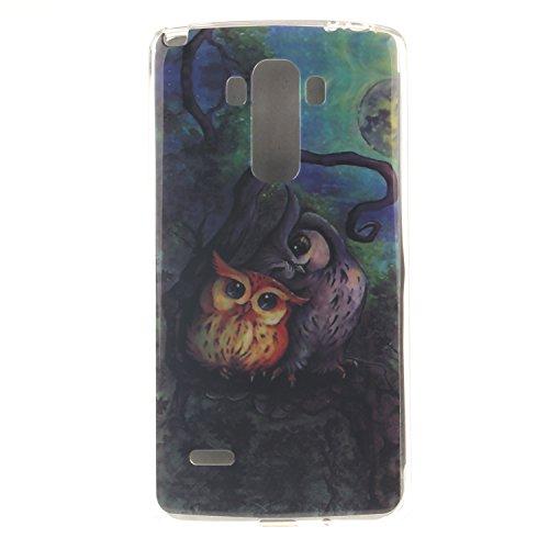 Anlike LG G4 Stylus Hülle, TPU Silikon Gel Schutzhülle / Schutz Hülle / Handy Hülle / Handytasche / Silikon Hülle Case / Flexibel Handy Tasche Cover für LG G4 Stylus / G Stylo LS770 (5,7 Zoll) - Eule