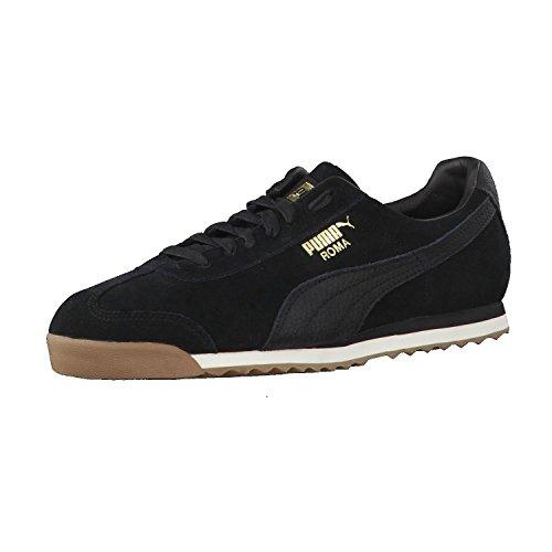Puma Roma Natural Warmth, Sneakers Basses Mixte Adulte Puma Black-Whisper White