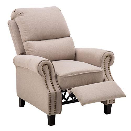 MCombo Sessel Relaxsessel Armlehnensessel Polstersessel Federkern Stoff Beige 7291BG