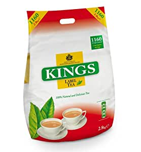 Kings Tea, (Kings Label Tea), 1160 bustine di tè, 2,8 chilo, 2 tazze, tè di approvvigionamento