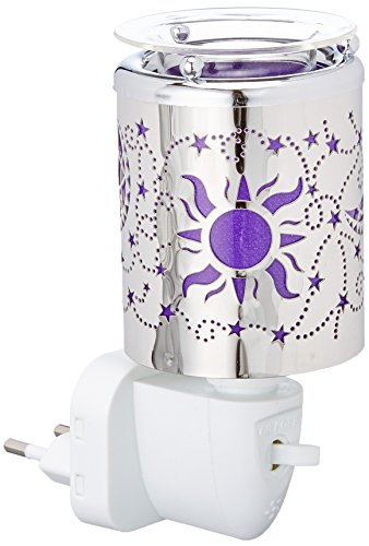 PAJOMA 44626 Elektrische Nachtlicht-Duftlampe Sun, Kunststoff/Metall , Höhe 10,5 cm