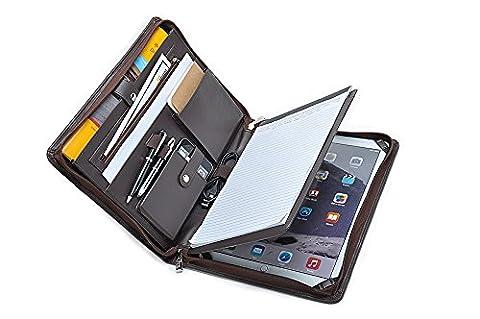 Manager Organizer Schreibmappe für 12,9-Zoll iPad Pro und A4 Notizblock