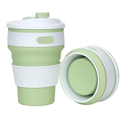 LIWEIL Tragbare silikon wasserflasche versenkbare klapp Tasse Camping Tee kaffeetasse mit Deckel wasserflasche -