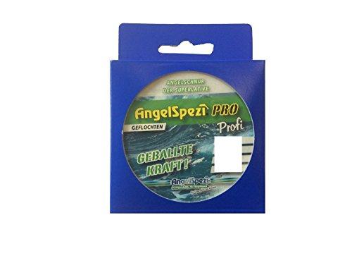 Angelschnur geflochten Farbe grün: Angel-Leine aus 100 % Dyneema für den Allround Einsatz auch in Salzwasser, je nach Durchmesser geeignet als Karpfen-Schnur, Aal-Schnur, Forellen-Schnur, Hecht-Schnur, Wels-Schnur sowie für Spinnfischen, Blinkern, Meeresangeln und mehr, Farbe: grün - Angel-Sehne Karpfen-Schnur (170 Meter, 0.14 mm)