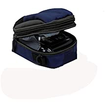Padded case with strap & Top Hole, Two Zip compartments for PANASONIC LUMIX DMC-TZ60 TZ55 TZ40 TZ35 SZ3 SZ5 LX7,Canon SX280 SX270 SX260,SX240,Samsung WB250 WB30 DV90,Nikon S3500 L26 L27 P300,Sony HX20,HX50 digital cameras