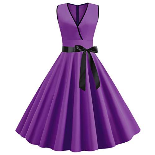 Deluxe Indische Kostüm - Produp Damen Dirndl Kleid Prom Swing Kleid 1950er Jahre Vintage Deluxe mittelalterlichen Queen Kostüm ärmellose V-Ausschnitt Abendkostüm