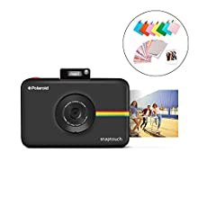 Polaroid Snap Touch 2.0 – Fotocamera digitale istantanea portatile da 13 MP, con Bluetooth integrato, display LCD touchscreen, video 1080p, tecnologia Zink Zero Ink e una nuova app, nero