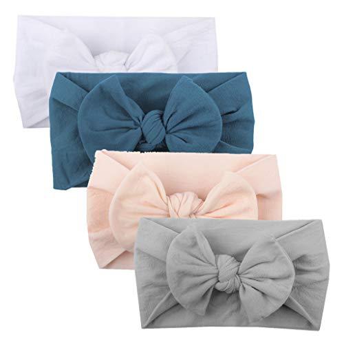 �nder, Cute Baby Kleinkind Infant Circle Stirnband Stretch Haarband Headwear (4 Pcs A) ()