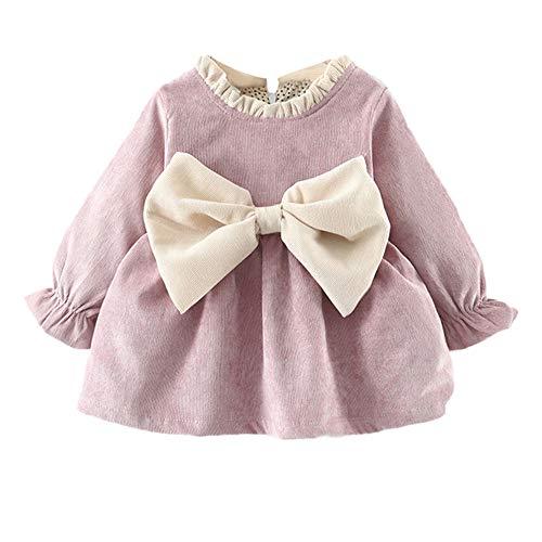 0380adc9c K-youth Vestidos para Niñas Vestido Bebe Niña Invierno Recien Nacido Vestido  de Princesa Otoño