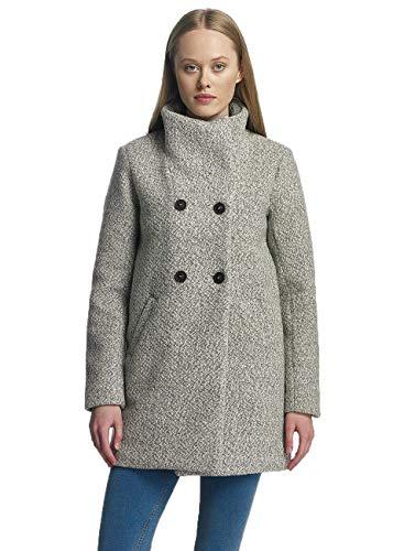 ONLY Damen onlALLY Sophia Wool Coat CC OTW Mantel, Grau (Light Grey Melange), 38 (Herstellergröße: M)