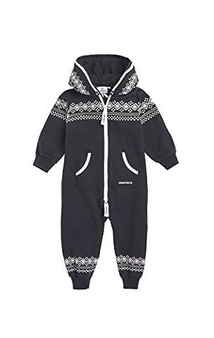 Onepiece Unisex Baby Strampler Jumpsuit Lusekofte, Mehrfarbig (Navy/White),92 (Herstellergröße: 18-24 Monate)