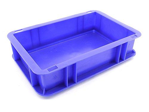 Preisvergleich Produktbild Electromyne Transport Stapel-Box 300x200x75mm Euro-Box Stapelkasten 25kg blau PP TK 300/75-0 (Generalüberholt)