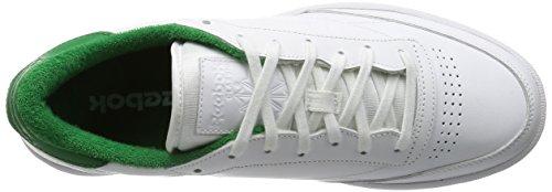 Reebok Club C 85 El, Scarpe da Tennis Uomo Bianco / Verde (White/Glen Green)