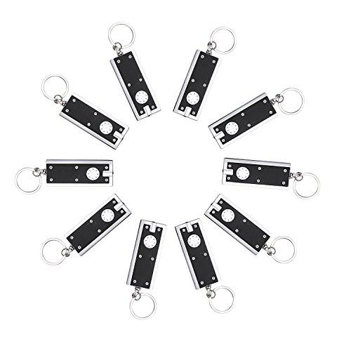 Schlüsselanhänger Lampe, (10er/ Pack) Mini Taschenlampe Schlüsselring, Bewegliche Dünne Kleine Leichte Lampen-Schlüsselkette Notfallhilfe, 45 lumen micro Licht