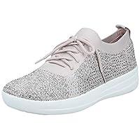 FITFLOP F-Sporty Uberknit Sneakers-Crystal Women's Women Fashion Sandals - Grey (Mink 068), 4 UK (37 EU)